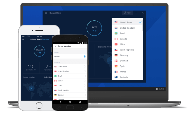 Firefox Hotspot Shield VPN Extension Shield